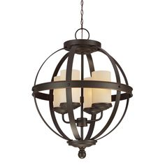 3190404-715,Four Light Chandelier,Autumn Bronze