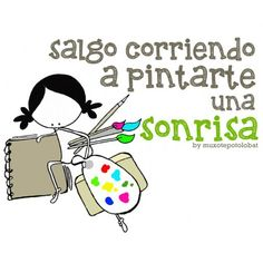 "Lámina ""Pintarte una sonrisa II"""