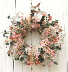 Купить Летний венок Бабочки - розовый, композиция с бабочками, детали интерьера, венок летний