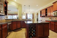Icon of Kitchen Island with Wine Rack Design Options