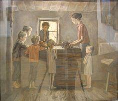 "A. Zhabsky  ""Bread"". From the series ""Children of War."" 1985 #WWII #GreatPatrioticWar #bread #children #occupation"