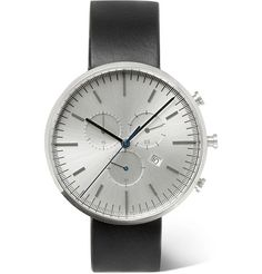 Uniform Wares - PreciDrive Stainless Steel And Leather Watch - Men - White Mens Watches Leather, Watches For Men, Uniform Wares, Stainless Steel Case, Quartz, Clock, Mens Fashion, Glass, Products