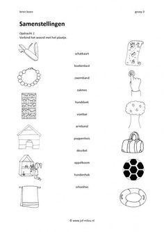 Werkbladen - Leren lezen - samenstellingen ~ Juf Milou