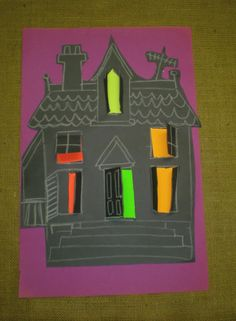 Jarvis House: Haunted House Halloween Craft for Kids