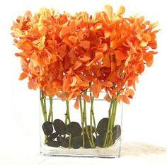 Orange Flower Arrangement  Mokari Orchids - #orange   #floral arrangement