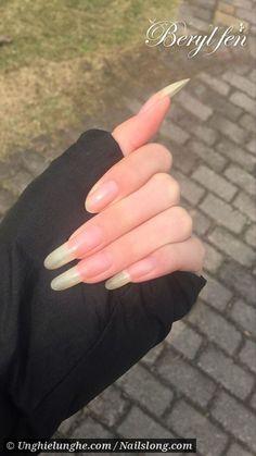 Long Natural Nails, Natural Acrylic Nails, Summer Acrylic Nails, Cute Acrylic Nails, Polygel Nails, Cat Nails, Prom Nails, Real Long Nails, Long Red Nails
