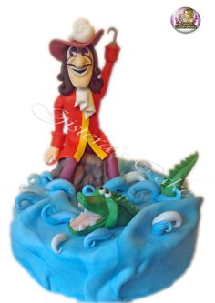 Cake Topper Capitan Hook #caketopper #capitanhook #capitanuncino