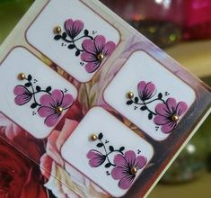 Nail Stickers, Nail Arts, Art Drawings, Manicure, Nail Designs, Alice, Flowers, How To Make, Nail Wraps