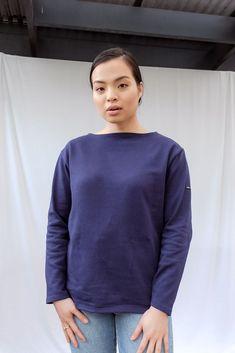 Guildo R Long Sleeve Cotton Top Saint James, Denim, Sweatshirts, Long Sleeve, Sleeves, Sweaters, Cotton, Tops, Women
