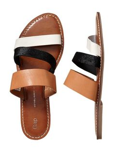 Gap strappy sandals-I need an easy slip on and go sandal for spring. This looks perfect!