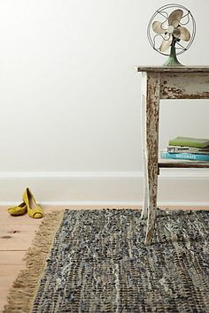 Anthro's recycled denim rugs ... Gimme.