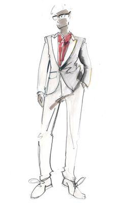 connaisseur illustration de la mode mens