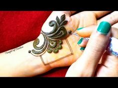 New Stylish Simple Mehndi Design for Front Hand |Latest Mehndi Design |Thought of Creation - YouTube Henna Hand Designs, Dulhan Mehndi Designs, Mehandi Designs, Mehndi Designs Finger, Henna Tattoo Designs Simple, Basic Mehndi Designs, Stylish Mehndi Designs, Mehndi Designs For Beginners, Mehndi Designs For Girls