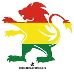 PublicDomainVectors.org-Vector image of lion shape colored with flag of Bolivia.