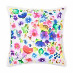 """Zara Floral Linen Pillow $35.90 12.5x12.5"""""""