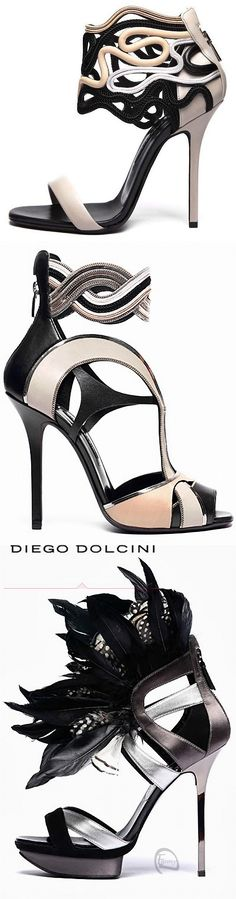 Diego Dolcini ~ Artistic Leather Design Sandals w Braided Ankle Strap, Black+Tan w Silver Accents 2013