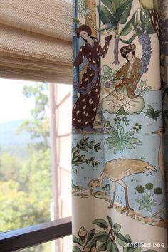 chinoiserie fabric - window treatment