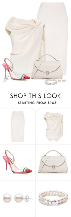 """Roland Mouret top and skirt"" by dgia ❤ liked on Polyvore featuring Roland Mouret, Sophia Webster and The Cambridge Satchel Company"