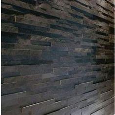 WALLS IN SHOWER ENCLOSURE Black Slate Split Face Mosaic Tile £27 sq m