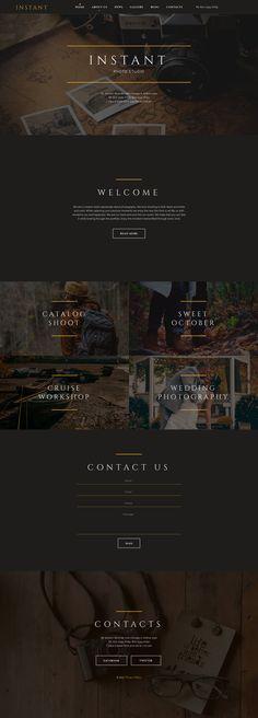 Art & Photography Espresso Web Inspiration at your Coffee Break! Site Web Design, Website Design Layout, Web Layout, Design Shop, Web Design Gallery, Web Gallery, Photography Website Templates, Photography Website Design, Art Photography