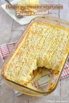 Purée de panais et tempeh, comme un hachis parmentier. Un hachis parmentier végétalien.. La recette par Tomate sans graines.