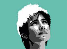 Famous russian rock-singer Zemfira. Vector portrait made in Adobe Illustrator