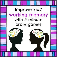 Help kids retain information, multi-step instructions and more by improving the executive function through the Working Memory Games.