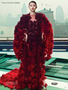 Valentino,My Name is Red by Li Qi for Vogue China Collections February Extra 2014