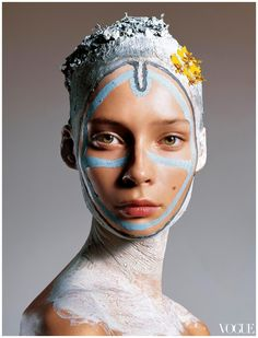 Tiiu Kuik. Vogue Italia Supplement November 2005 Richard Burbridge |