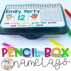 Pencil Box Name Tags solve so many problems in the classroom! I created these for my flexible seating classroom so children could move around the room, keep their personal supplies, and have references during work time!This set includes English and Spanish options.
