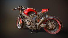 Honda VFR 750, Robert Deleanu on ArtStation at https://www.artstation.com/artwork/honda-vfr-750