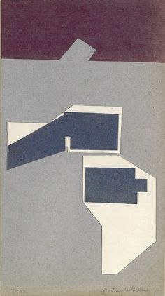 Title: Untitled (39X2)  Artist: Gertrude Greene (1911-1956, American)  Year: 1939    Materials/Techniques: Collage on paper