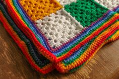 """Another blanket? What is happening to me?! The Disco Rainbow Blanket  Another blanket? What is happening to me?! The Disco Rainbow Blanket  """"Oh, so you crochet?"""" """"My nan used to crochet blankets, do you?"""" Until very recently I would have categorically said no, definitely not. I find them boring, they take waaay way longer than you think, the initial enthusiasm wanes quite quickly and any attempt has previously ended up in a basket in the corner gathering dust......"""