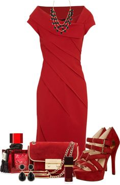 """Sizzling red dress"" by leilani-almazan on Polyvore"