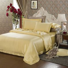 19 Momme Silk Sheets Silk Bedding, Duvet Bedding, Bedding Sets, Satin Sheets, Flat Sheets, Beds Online, Mulberry Silk, Bedding Collections