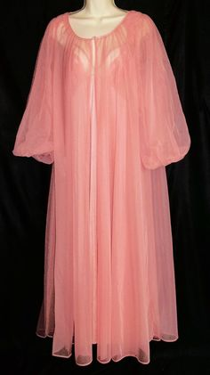 Vintage Lingerie LORRAINE Chiffon Nightgown by ReallyCoolClothes, $69.95
