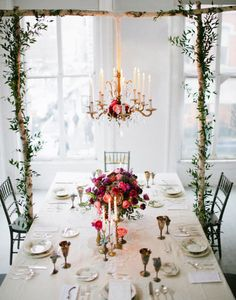 ❥ Downton Abbey inspired tablescape
