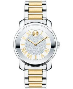Movado Unisex Swiss Bold Two-Tone Stainless Steel Bracelet Watch 32mm 3600256