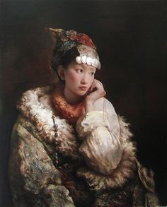 Distant Thoughts by Tang Wei Min A great talent whose works remind me of my favorite 19th century French artists