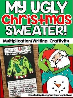 A silly but fun Christmas craft! This craft can be used in many different ways! In my classroom, students design their own sweater for the holiday sea. Christmas Craft Projects, Christmas Math, Math Projects, Christmas Activities, Christmas 2019, Holiday Crafts, Christmas Ideas, Math Crafts, Classroom Crafts