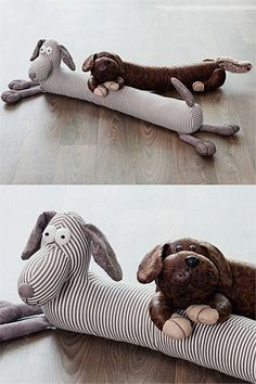 Gifts For The Home - Grey Stripe Dog Draught Stopper