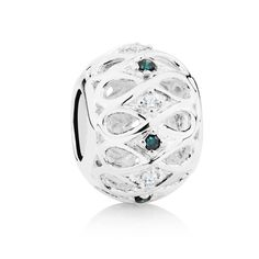 Sterling silver and diamond* charm (12368693) #marrakesh #emmaandroe *Coloured and black diamonds are irradiated and heat treated, respectively, to permanently enhance colour and may be sensitive to heat.