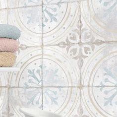 QDIsurfaces Geo-Tech x Porcelain Field Tile in Glacier Bathroom Floor Tiles, Shower Floor, Kitchen Tiles, Kitchen Flooring, Wall Tiles, Tile Floor, Cement Tile Backsplash, Bathroom Tile Patterns, Moroccan Tile Bathroom