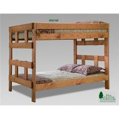 Full over full Raine Stackable Bunk Bed