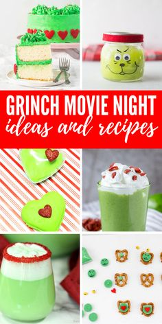 ,Best of Passion For Savings Grinch Movie Night Ideas & Recipes! Green, Mean, and Perfect for Christmas Parties and Holiday Themed Grinch Parties! Cute and an easy. Christmas Movie Night, Christmas Events, Grinch Stole Christmas, Holiday Movie, Christmas Parties, Grinch Snack, Grinch Cake, Grinch Party, Holiday Themes