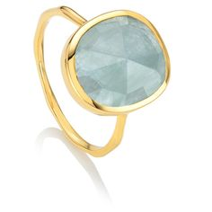 The Gold Vermeil Siren Medium Stacking Ring in Aquamarine. Shop now with free delivery, engraving and gift packaging. Aquamarine Jewelry, Amethyst Gemstone, Sterling Silver Jewelry, Gemstone Rings, Round Cut Engagement Rings, Morganite Ring, Ring Set, Titanium Rings, Diamond Wedding Bands