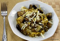 lemon basil eggplant risotto by ottolenghi - recommended by Chethana