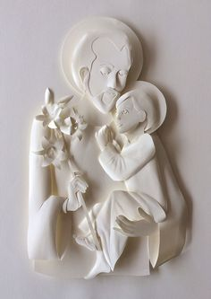 St Joseph and Jesus White Paper Sculpture on Behance