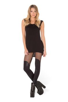 S - Bootleg Net Leggings - LIMITED › Black Milk Clothing