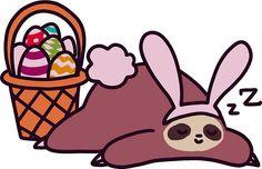 Easter Bunny Sloth